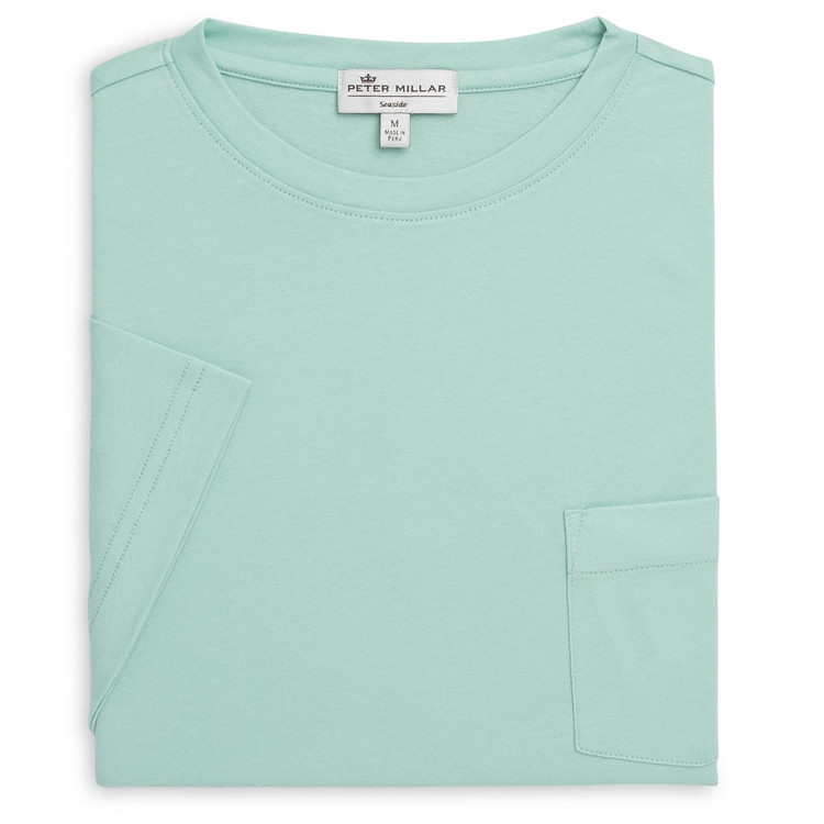 Seaside Pocket Tee in Watercress by Peter Millar