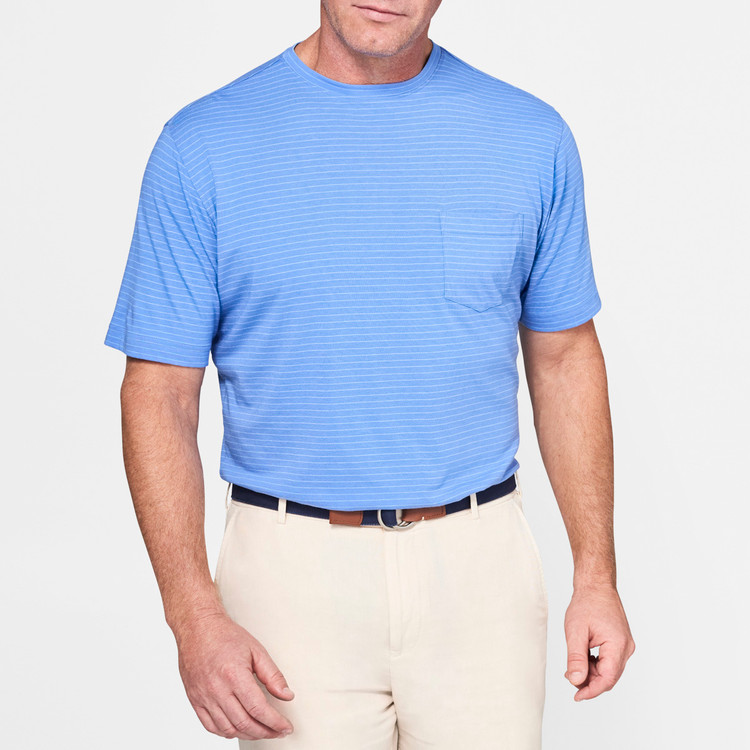 Seaside Striped Pocket Tee in Bonnet by Peter Millar