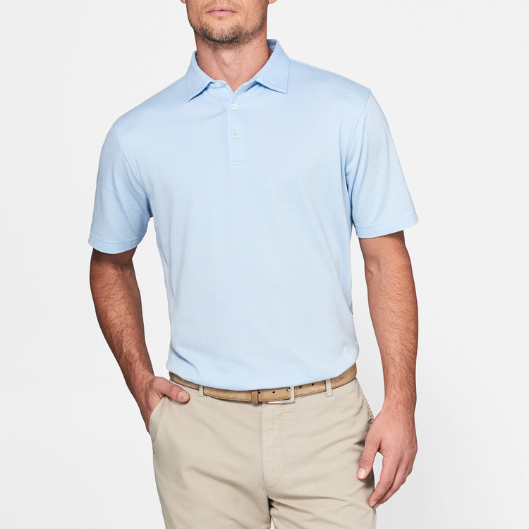 Collection Perfect Pique Polo in Blue Vento by Peter Millar