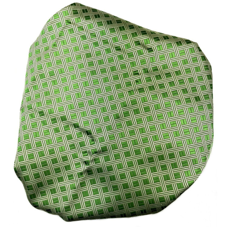 Custom Made Green and White Basketweave Best of Class Silk Tie by Robert Talbott