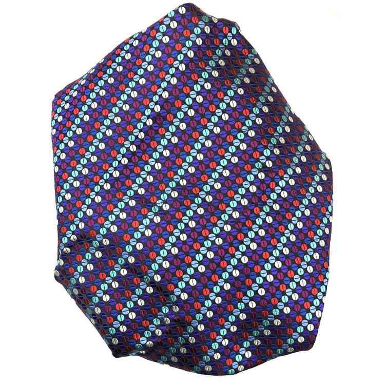 Custom Made Black, Blue, Red, and Plum 'Welch Margetson' Best of Class Silk Tie by Robert Talbott