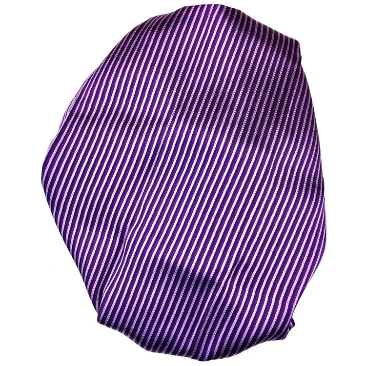 Custom Made Grape, Plum, and Lilac Stripe Best of Class Silk Tie by Robert Talbott