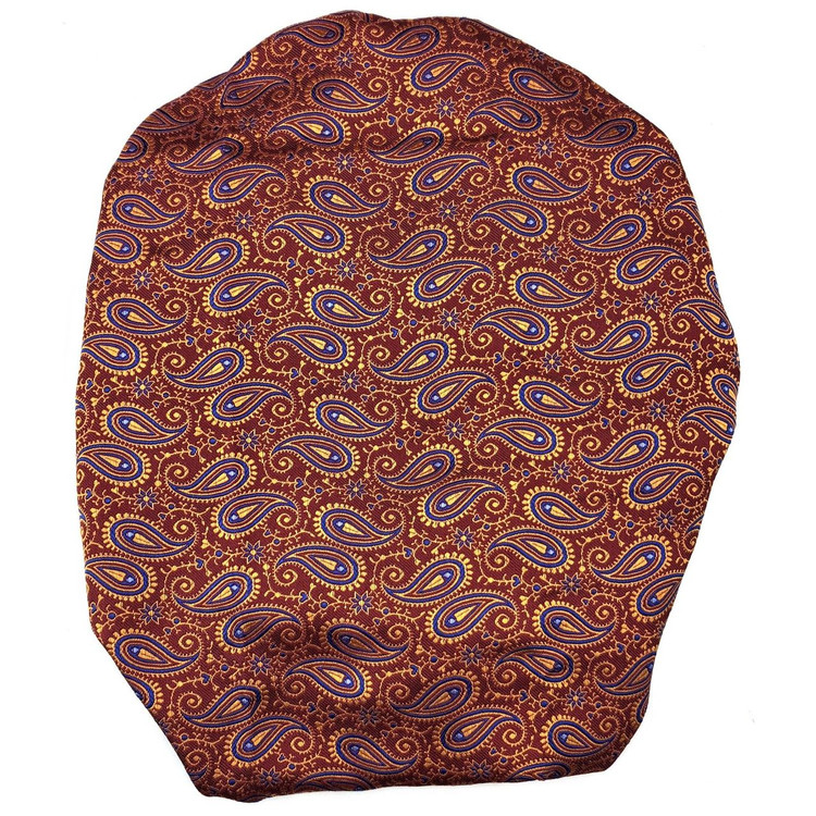 Custom Made Rust, Gold, and Blue Paisley Best of Class Silk Tie by Robert Talbott