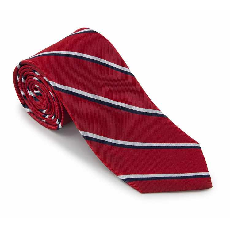 'Royal Navy Engineers (Red)' British Regimental Tie by Robert Talbott