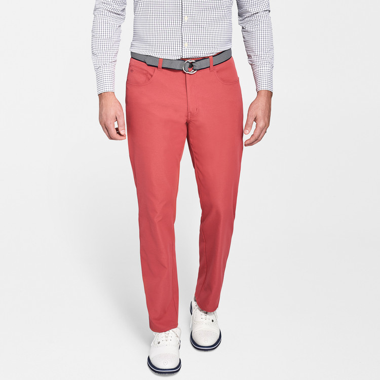EB66 Performance Six-Pocket Pant in Cape Red 'Crown Sport' by Peter Millar