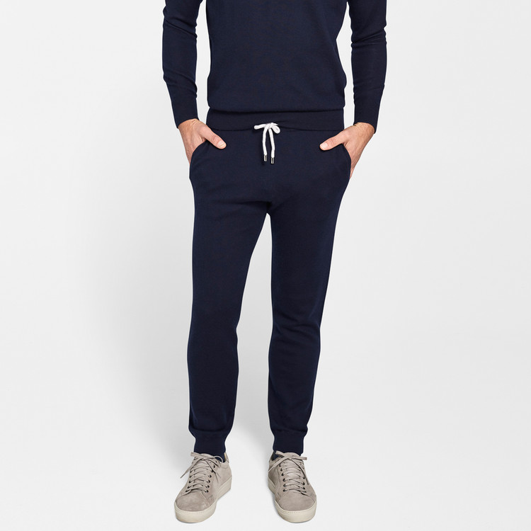 Crown Comfort Cashmere Lounger Pant in Perfect Navy by Peter Millar