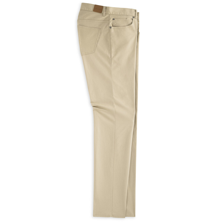 Soft Touch Twill Five-Pocket Pant in Khaki by Peter Millar