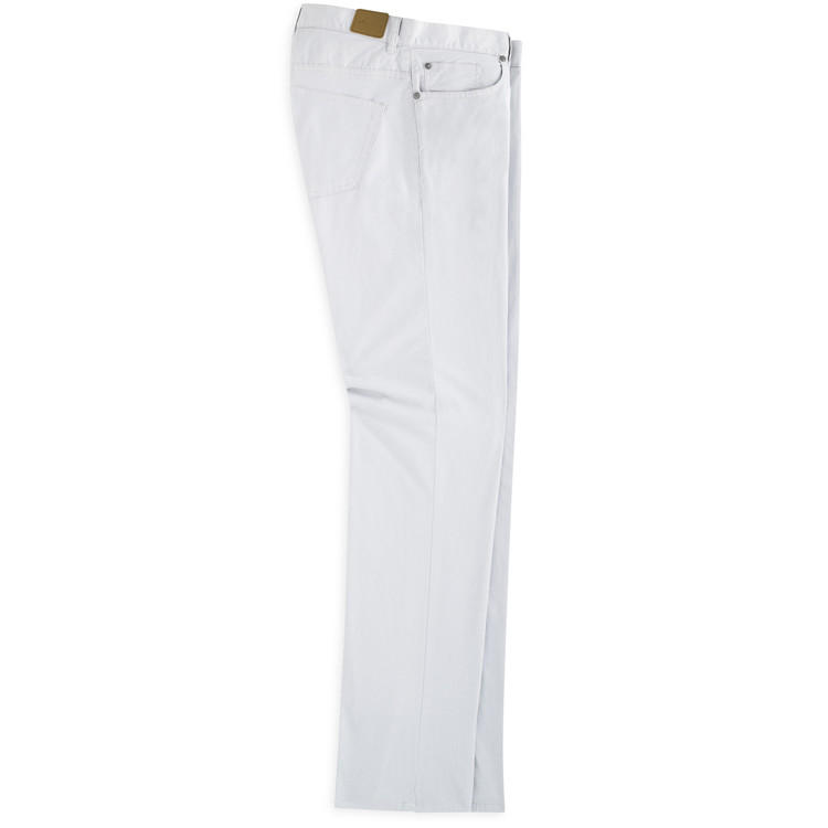 Soft Touch Twill Five-Pocket Pant in Light Grey by Peter Millar