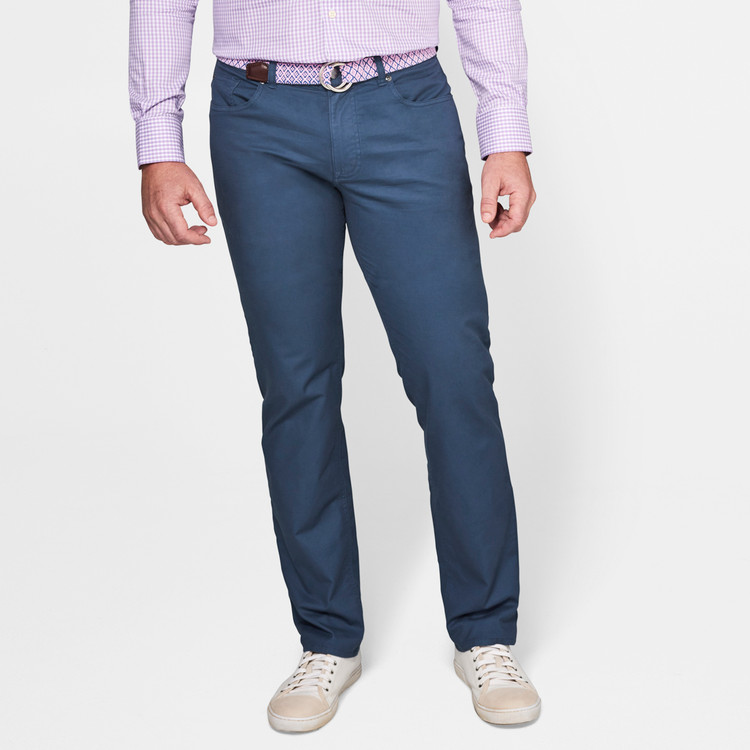 Soft Touch Twill Five-Pocket Pant in Navy by Peter Millar