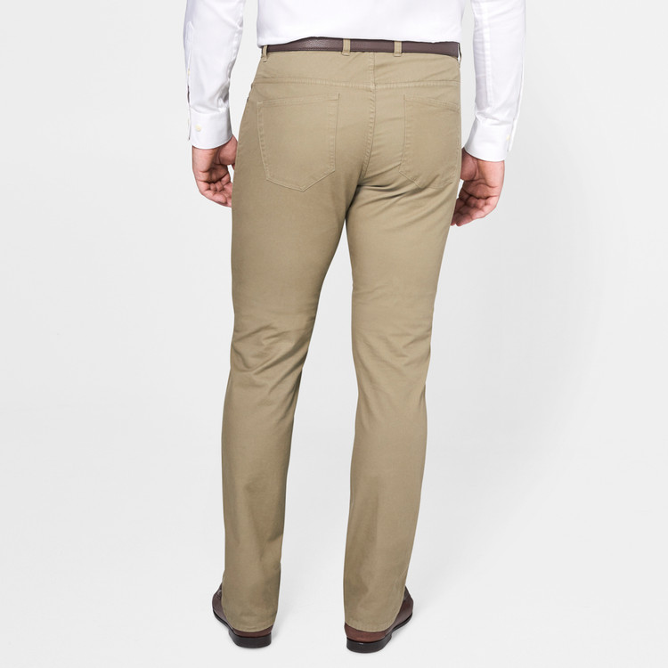 Soft Touch Twill Five-Pocket Pant in New Military by Peter Millar