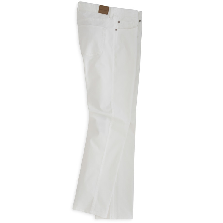 Sateen Stretch Five-Pocket Pant in White by Peter Millar
