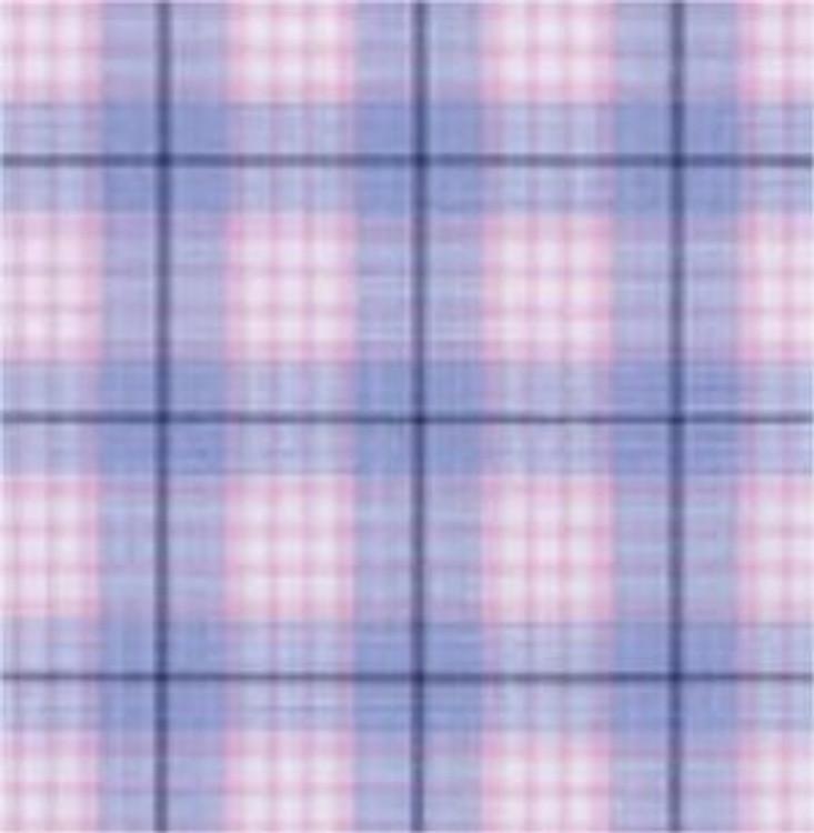 Blue and Pink Summer Lux Poplin Check Estate Dress Shirt by Robert Talbott