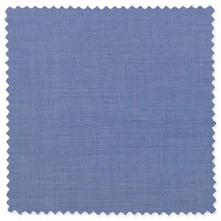 Albini Piumino 140's Blue Broadcloth Custom Dress Shirt by Gitman Brothers
