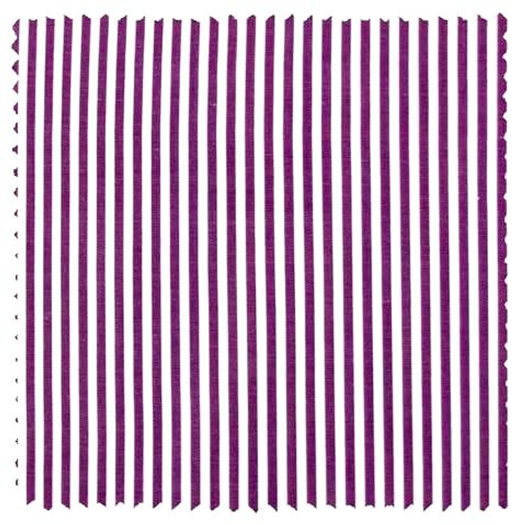 Albini Piumino Purple Bengal Stripe Custom Dress Shirt by Gitman Brothers