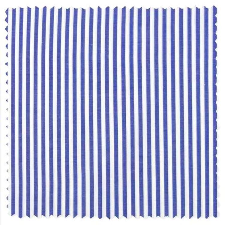 Albini Piumino Blue Bengal Stripe Custom Dress Shirt by Gitman Brothers