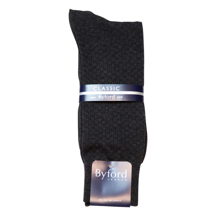 Black Link Design Peruvian Pima Cotton Socks (Mid-Calf) by Byford