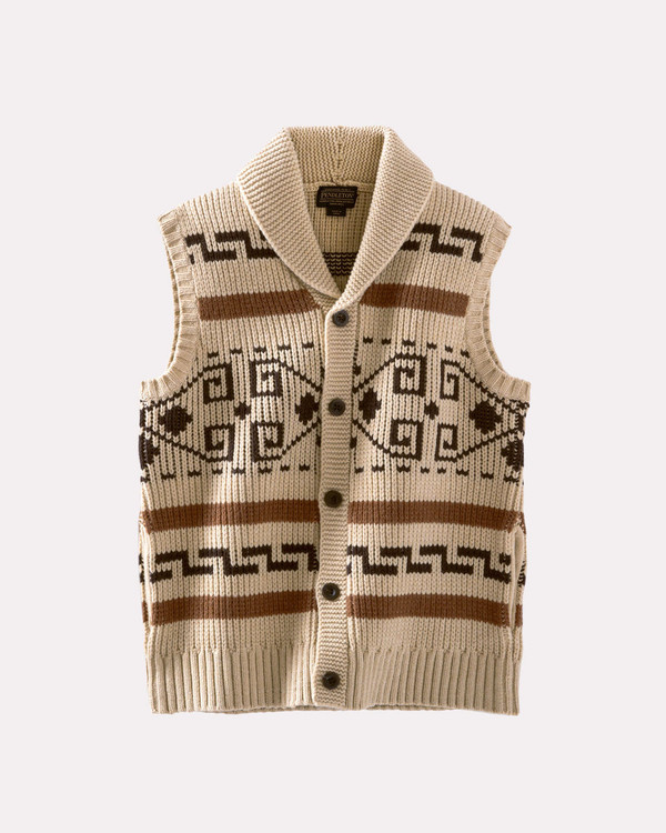 The Original Westerley Sweater Vest in Tan by Pendleton