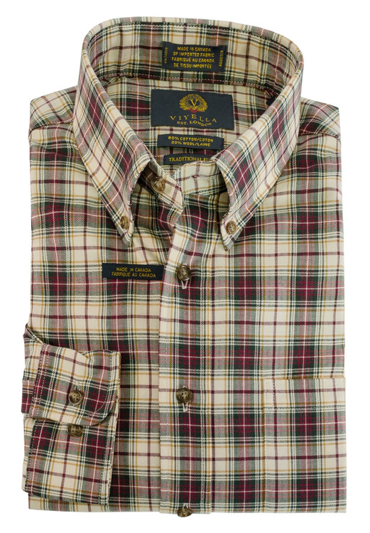 Vino Plaid Button-Down Shirt by Viyella