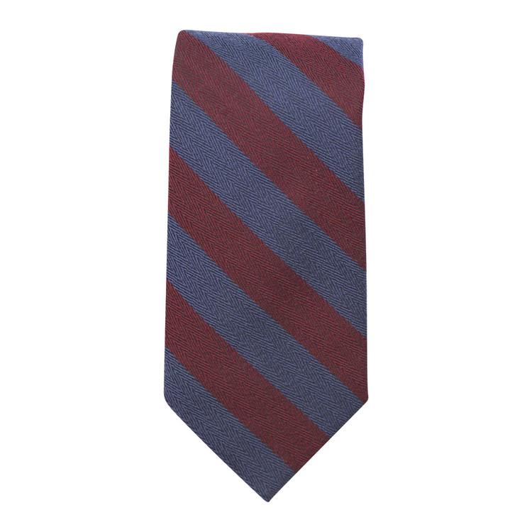 Best of Class Navy and Burgundy 'Seasonal' Woven Silk Tie by Robert Talbott