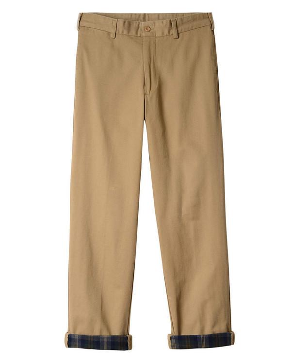 Flannel Lined Chino - Model M2 Original Twill Pant in British Khaki by Bills Khakis