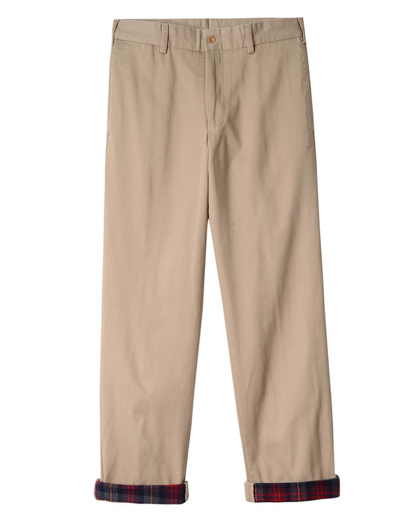 Flannel Lined Chino - Model M2 Original Twill Pant in Khaki by Bills Khakis