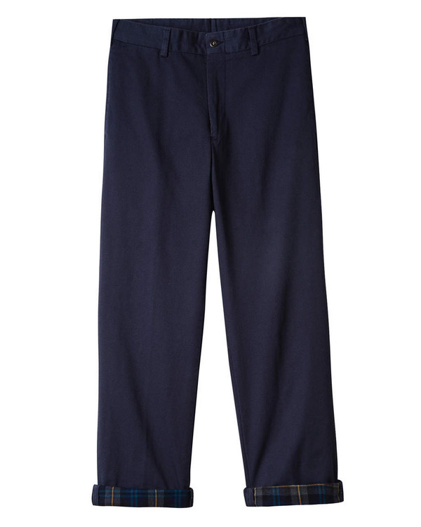 Flannel Lined Chino - Model M2 Original Twill Pant in Navy by Bills Khakis