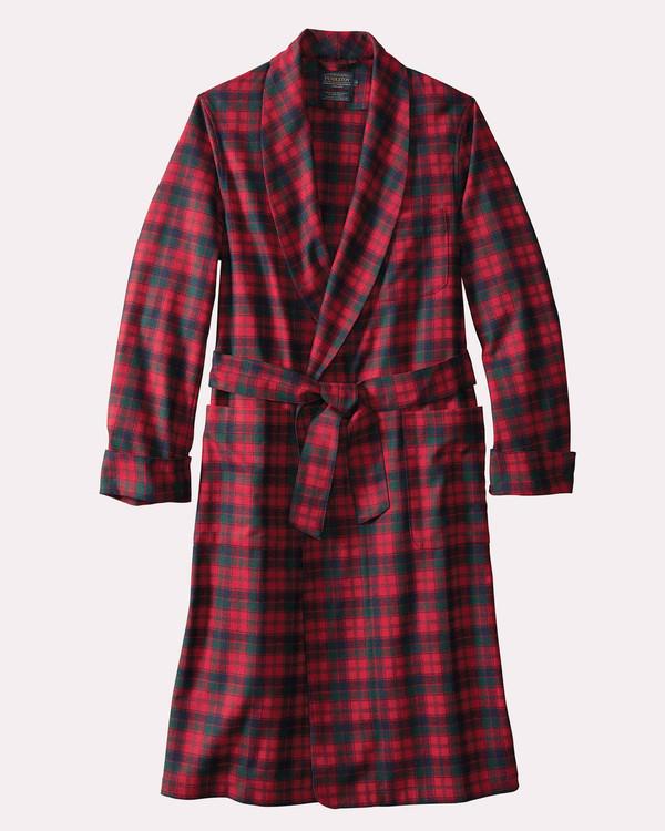 Washable Whisperwool Lounge Robe in Red Robertson Tartan by Pendleton