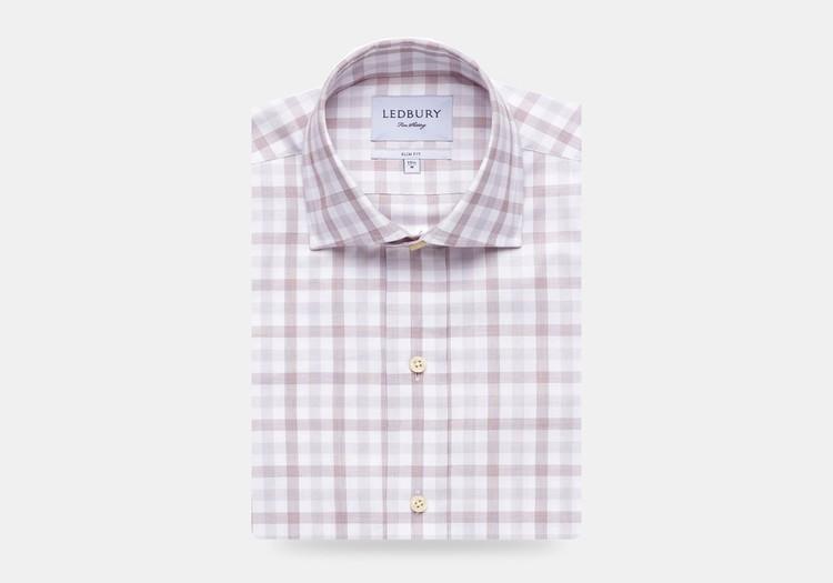 The Cedar Corbly Gingham Dress Shirt by Ledbury