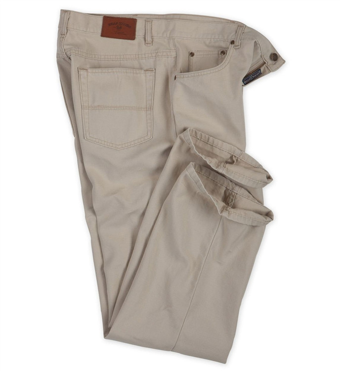 Weathered Canvas Five Pocket Model in Sand by Bills Khakis