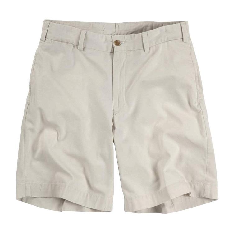 Lightweight Cotton Poplin Short in Stone (Model M2) by Bills Khakis
