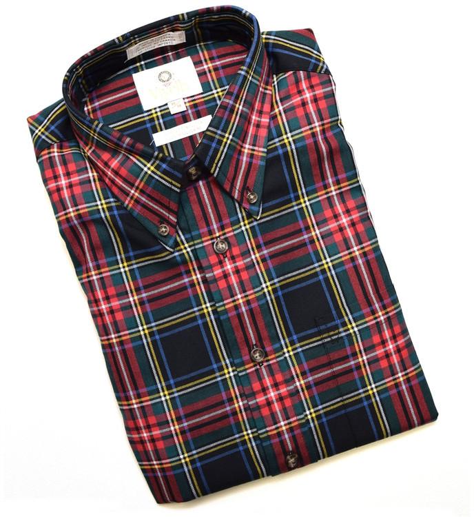 Black and Red Tartan Shirt by Viyella