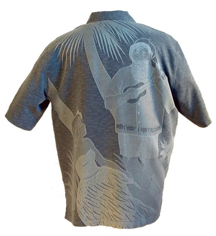 'Serenade' Christmas Silk Resort Shirt (Size Large) by Tori Richard