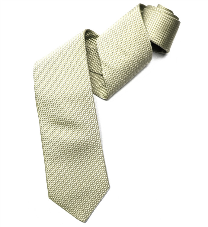 Best of Class Ivory Basketweave 'Times Square' Woven Silk Tie by Robert Talbott