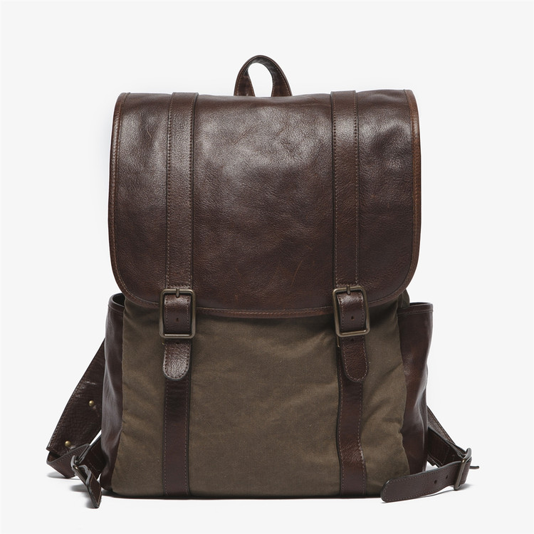 Crews Backpack in Waxwear Rangertan by Moore & Giles