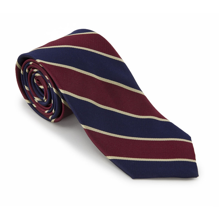 'Kings Dragoon Guards' British Regimental Tie by Robert Talbott