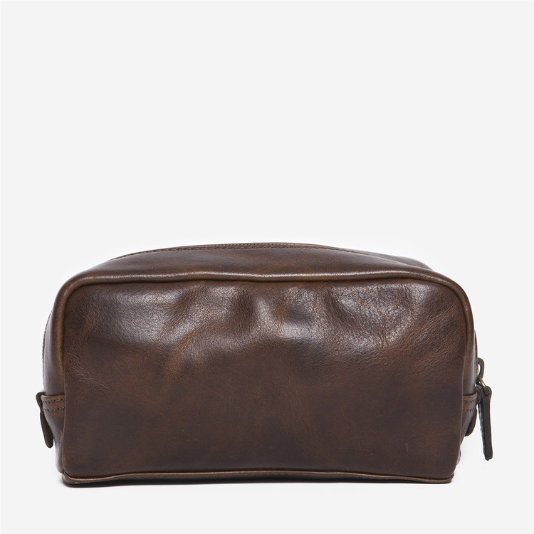 George Mini Dopp Kit in Titan Milled Brown by Moore & Giles