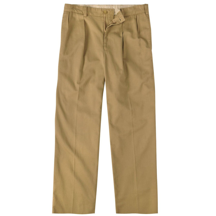 Vintage Twill Pant - Model M1P Relaxed Fit Forward Pleat in British Khaki by Bills Khakis