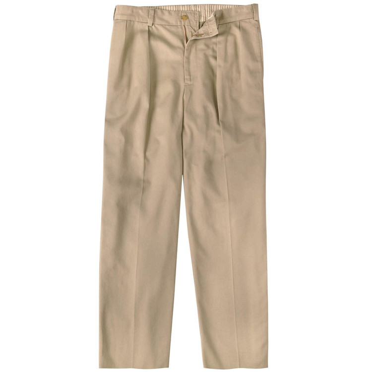Vintage Twill Pant - Model M1P Relaxed Fit Forward Pleat in Khaki by Bills Khakis