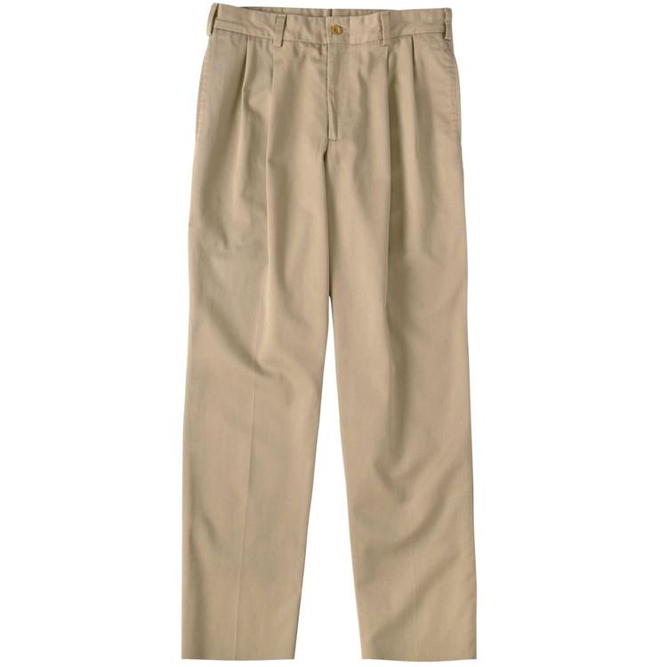 Original Twill Pant - Model M2P Standard Fit Reverse Pleat in Khaki by Bills Khakis