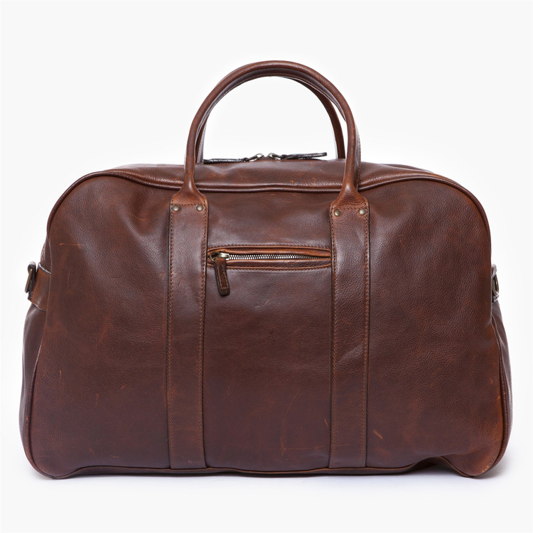 Taylor Duffel in Titan Milled Brown by Moore & Giles