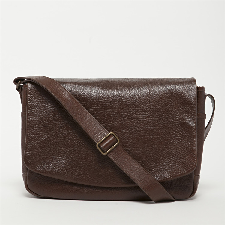 Sackett Messenger Bag in American Bison by Moore & Giles