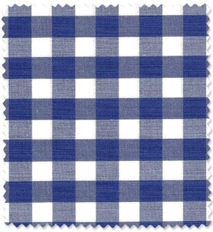 "Blue and White Bold 3/8"" Check Custom Dress Shirt by Robert Talbott"