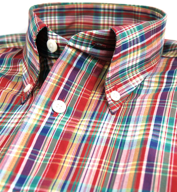 Multi Colored Plaid Sport Shirt (Size XX-Large) by Gitman Brothers
