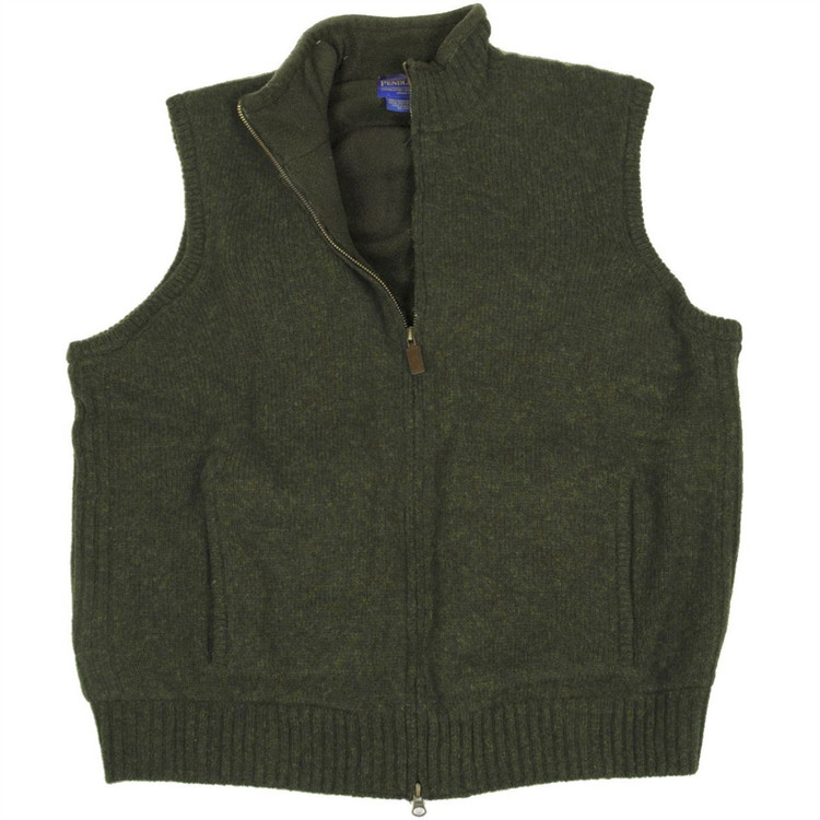 Shetland Fleece-Lined Reversible Territory Vest in Olive (Size XX-Large) by Pendleton