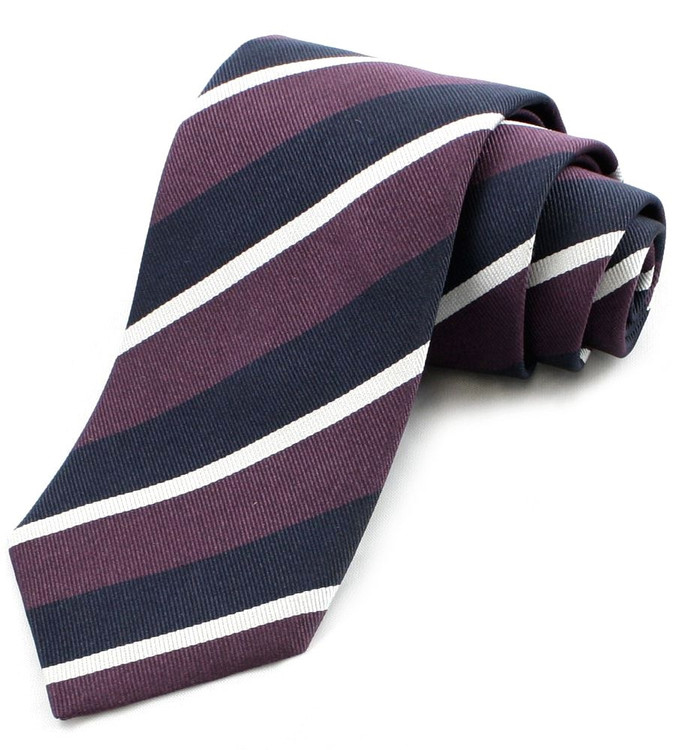 'Old Olavians' Regimental Stripe Tie by Gitman Brothers