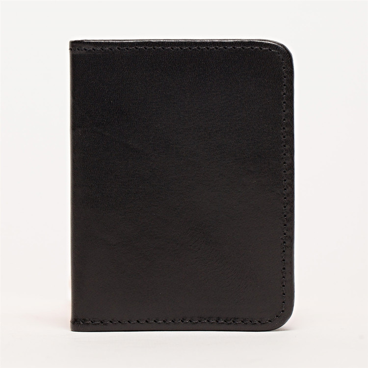 Card Wallet in Brompton Black by Moore & Giles