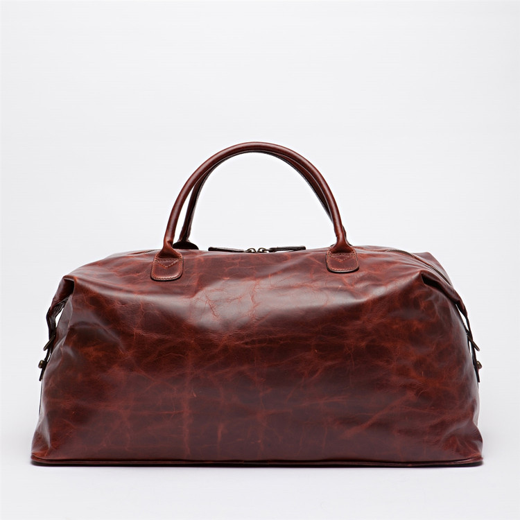Benedict Weekend Bag in Brompton Walnut by Moore & Giles