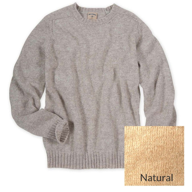 New England Shetland Crew Neck Sweater in Natural (Size XX-Large) by Bills Khakis