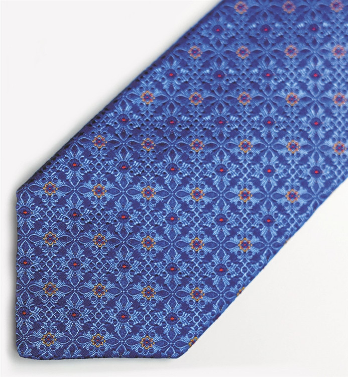 Blue 'Beach Club' Woven Silk Estate Tie by Robert Talbott