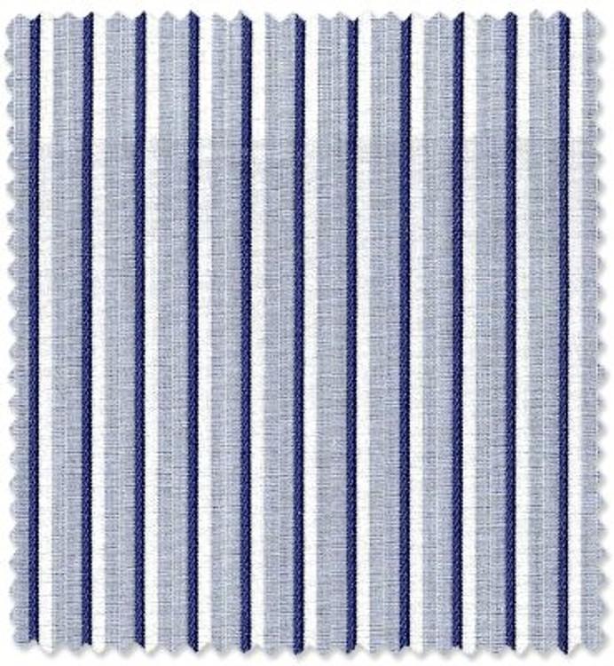 Blue, White, and Navy Multi Stripe Custom Dress Shirt by Robert Talbott
